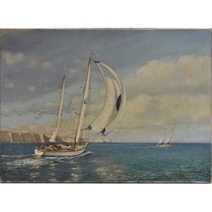 Terence Storey (bn 1923) Off the Needles