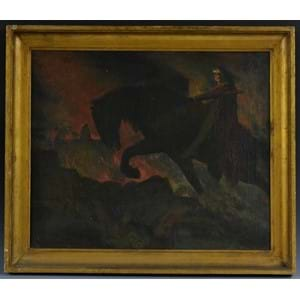French Symbolist School (late 19th/early 20th century) Nightmare oil on canvas